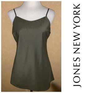 Jones New York Khaki Green Shell